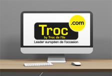 Ecran avec logo de troc.com